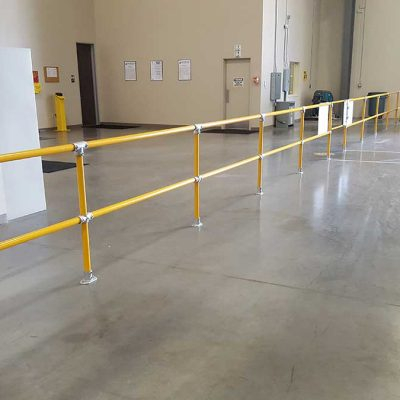 Yellow Safety Guardrail